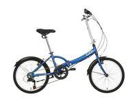 Apollo Tuck Folding Bike - Blue/Silver