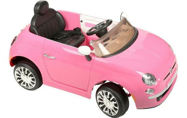 6V ELECTRIC FIAT 500 KIDS CHILDRENS CHILDS RIDE ON TOY SPORTS CAR LIGHTS