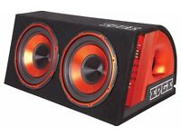 1800 Watt Double 12 Inch Active (built in amp) Edge Sub-Woofer System-Includes Wiring Kit