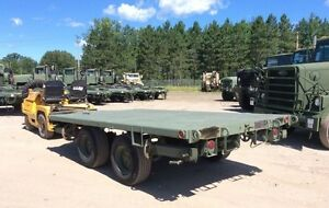 EXTREME DUTY FLAT BED M1061A1 TRAILER DUAL AXLE AIR BRAKES