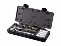 "Halfords Advanced 18 Piece Socket Set 3/8"" Brand New RRP £50"