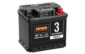 Halfords Car Battery HB012.