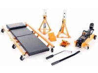Brand New 4 Piece Car Lifting Kit (only Padded Car Creeper not included)