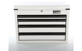 Brand New White Halfords 4 Drawer Ball-Bearing Tool Chest / Toolbox / Gas Strut/ Can Deliver Locally