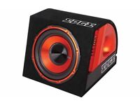 "12"" 900w Subwoofer & Amplifier - ( Sub and Amp woofer bassbox boom bass box usb Headunit car stereo"