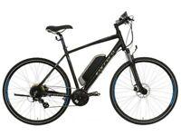 "Brand New** Carrera Crossfire-E Mens Electric Hybrid Bike - 17"""