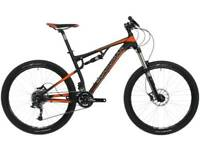 Boardman full suspension mountain bike and extras