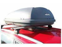 Halfords 340L Side Opening Roof Box Grey