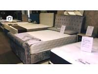 Sleigh beds £399 double with mattress ❤️