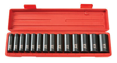 "Tekton 14Pc. 1/2"" Drive 12-Point Deep Impact Socket Set METRIC-4884 WARRANTY"