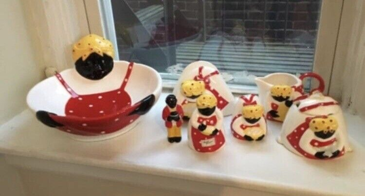 """Dept 56 Vintage Ceramic Set The Iconic Syrup Lady RARE! """"Someones In the Kitchen"""