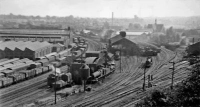PHOTO  WORCESTERSHIRE  RAILWAY PANORAMA FROM RAINBOW HILL WORCESTER