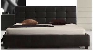 "BRAND NEW Modern PU Leather ""MILA"" plush Bed Frame delivery extra Reservoir Darebin Area Preview"