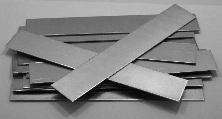 "Nickel Silver Sheet / Bracelet Blanks 22ga 6"" x 1"" .64mm  Pkg Of 12"