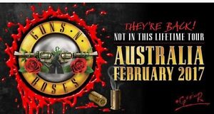 Guns N' Roses: Not In This Lifetime Tour Tickets- Gold Reserved Mont Albert Whitehorse Area Preview