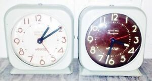 2 for $10 Vintage SILVER BELL Westclox Alarm Clocks Antique