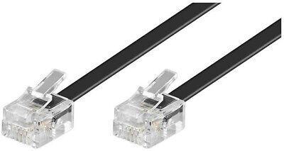 Cable de telefono 1,8 m. RJ11 macho macho.