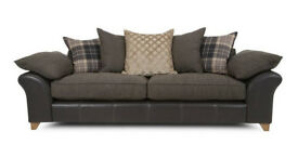 Union 4 seater pillow back sofa