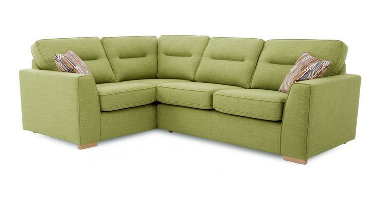 """weekend 2 seater corner sofain West Heath, West MidlandsGumtree - Sofa is brand new """"Nice and comfortable sofa. Available in 11 colours Light or Dark feet. Pillows included Comes with foam filled seat cushions for a beautiful look that bounces back with no need to plump. Full sets available """" """"Height (cm) 95..."""