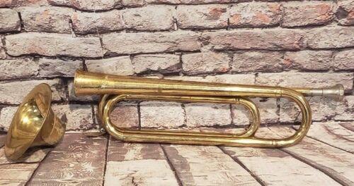 Getzen Deluxe Brass Bugle Made In Elkhorn WI w/Original Getzen Mouthpiece