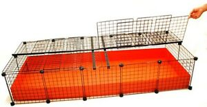 New 2x5 grid covered c c cube coroplast guinea pig cage xl for Coroplast guinea pig cage for sale