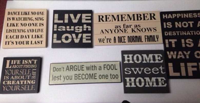 Various Wall Signs Quotes Happiness Life Normal Family In