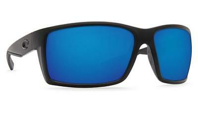 e78028aad5c Costa Del Mar Reefton Polarized Sunglasses Matte Blackout Blue Mirror 580G  Glass