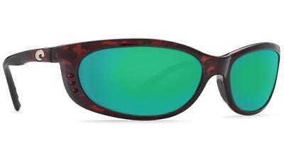 ada08af3a68 New Costa del Mar Fathom Polarized Sunglasses Tortoise Green Mirror 400G  Glass