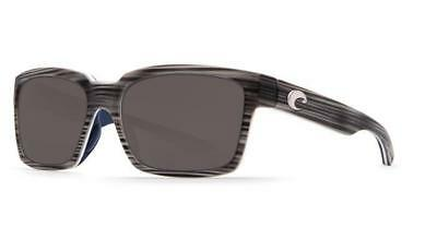 613edf4cf22 New Costa Del Mar Playa Polarized Sunglasses 580G Glass Matte Silver  Teak Gray