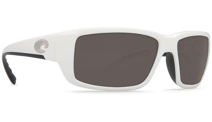 New Costa Del Mar Fantail Polarized Sunglasses 580G White/Gray Glass Wrap