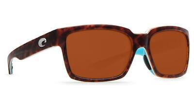c7ea5bc739 New Costa Del Mar Playa Polarized Sunglasses 580P Light Tortoise Aqua Copper