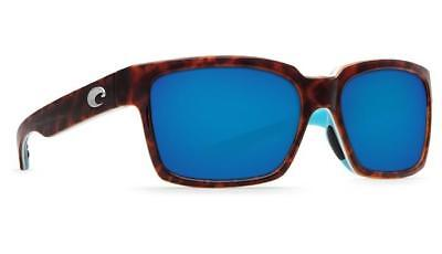 a39f29170cf Costa Del Mar Playa Polarized Sunglasses 580P Lt Tortoise Aqua Blue Mirror