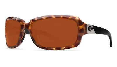 1b8d911a1a03 New Costa del Mar Isabela Polarized Sunglasses Retro Tortoise Copper 580G  Glass