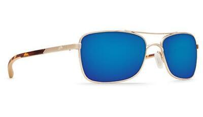 1ca3ad4f0f New Costa Del Mar Palapa Polarized Sunglasses 580G Glass Rose Gold Blue  Mirror
