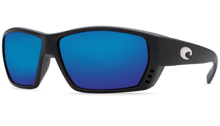 6a509484e2 Costa Del Mar Tuna Alley TA 11 OBMP Matte Black   Blue Mirror 580P Polarized