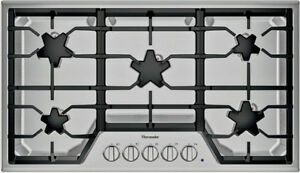 "THERMADOR 36"" MASTERPIECE SERIES STAINLESS STEEL GAS COOKTOP -"