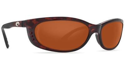 beaa4dea530d1 New Costa del Mar Fathom Polarized Sunglasses Tortoise Copper 580G Glass  FA10