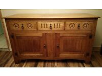 Solid Oak Ercol sideboard / Old Charm style