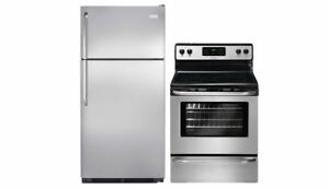 Brand new Frigidaire Fridge & Stove