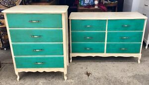 2 French Provincial Style Dressers
