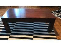 Hardwood coffee table brown wood wooden