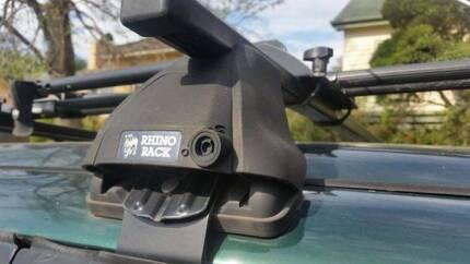 Pair of Rhino Roof Racks fit Mitsubishi MK Triton gutter mount