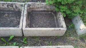Concrete container garden planters, $150ea