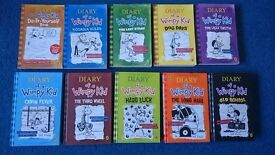 Diary of a wimpy kid books, 10 books.