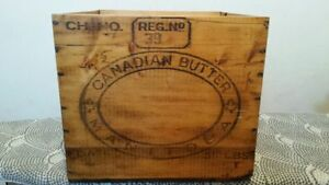 Antique Manitoba Butter Box-Mint