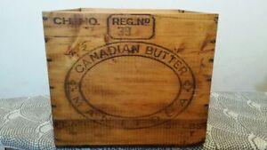 Antique Manitoba Butter Box-Mint