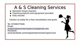 Domestic cleaners here to help weekly, fortnightly and one off cleans appointments available