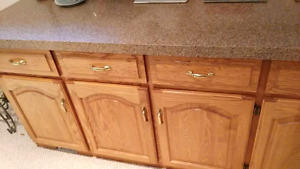 SOLID OAK KITCHEN WITH NEW GRANITE AND MORE