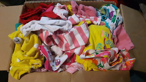 Box of 77 baby girl clothing items