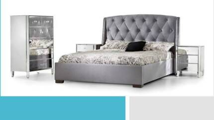 fabric queen bed frame closing down clearance sale - Queen Beds For Sale